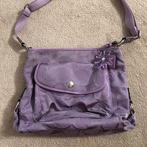 Lavender canvas Coach bag